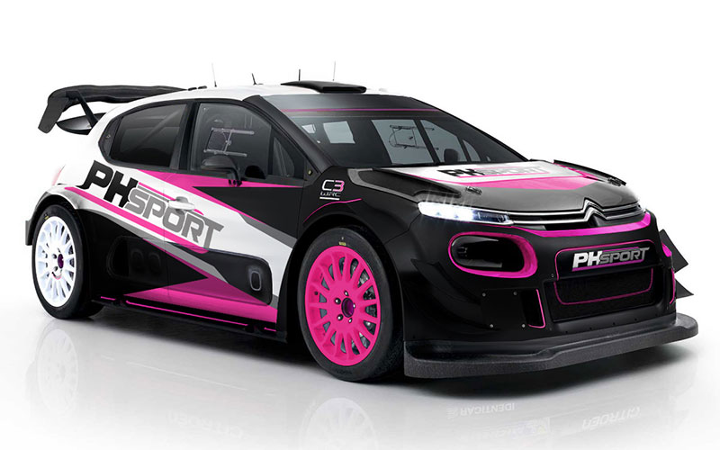 A Citroën C3 WRC for hire from PH Sport
